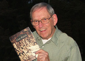 Ed Westcott Showing His Book Entitled OAK RIDGE
