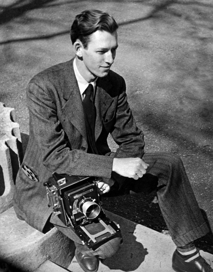 Young Ed Westcott With Camera 1943