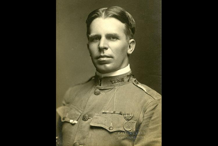 WWI Veteran Lt. Harry Clemons of the 115th Field Artillery Regiment (Courtesy: Tennessee State Library and Archives)