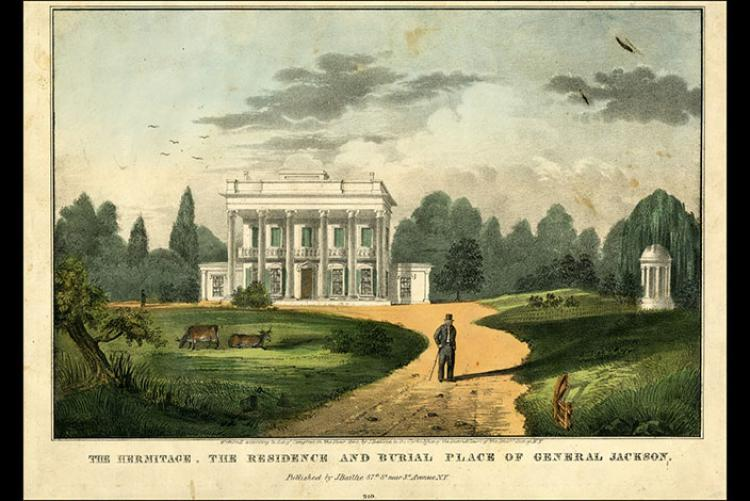 Artist rendering of The Hermitage, home of President Andrew Jackson