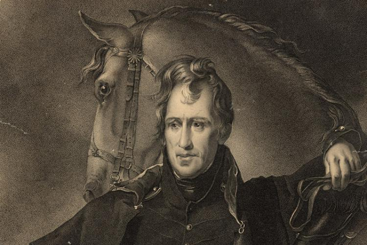 Engraving of Major General Andrew Jackson by James Barton Longacre