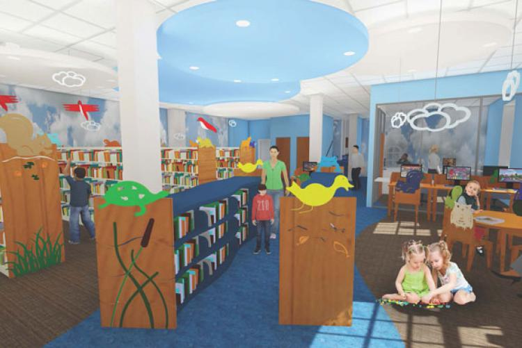 Rendering of Kingsport Public Library renovations