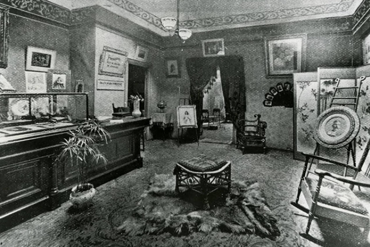Interior of Giers' Art Gallery.