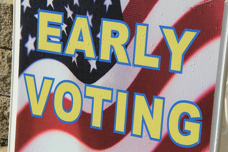 Sign that says Early Voting