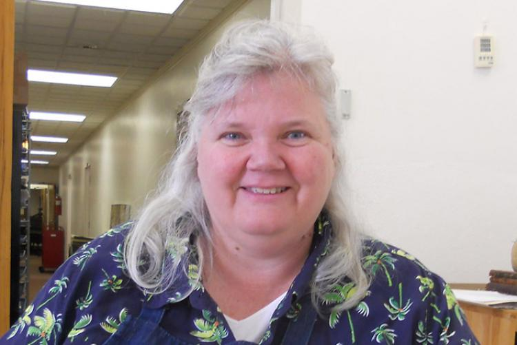Library & Archives Conservation Manager Carol Roberts