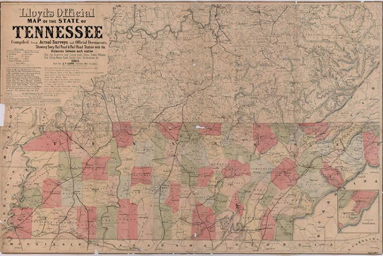 Inventories Of County Records On Microfilm Tennessee Secretary - Tennessee county map