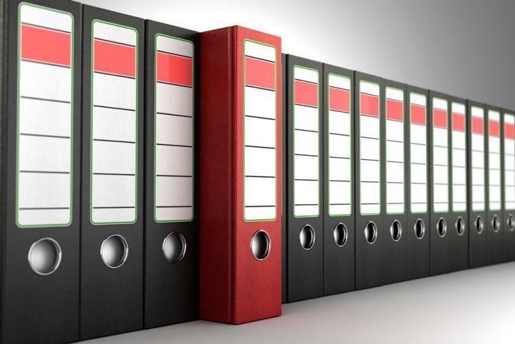stock image of binders