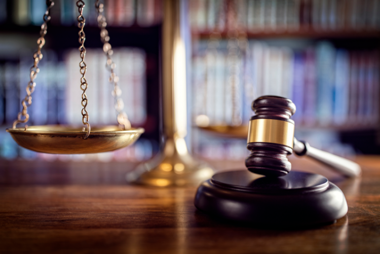 Gavel and legal balance scales