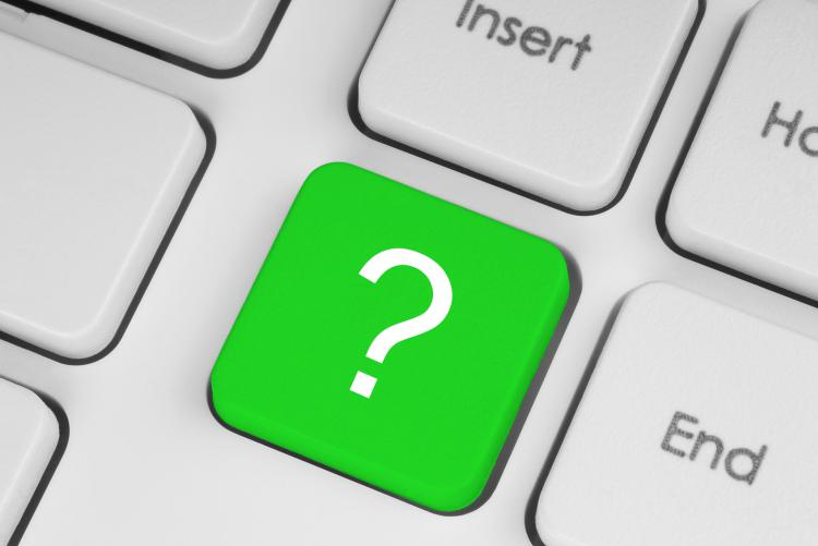 image of a green question mark keyboard button