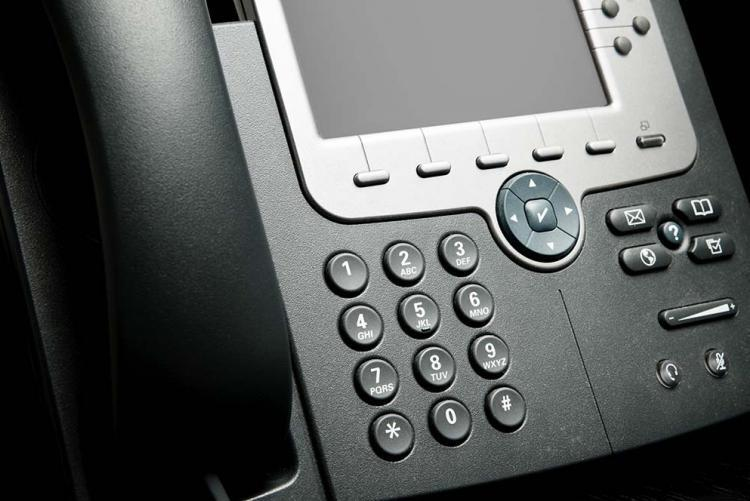 image of an office phone