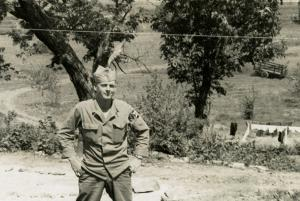 David Franklin Brock pictured in the Kumhwa region of Korea in 1953