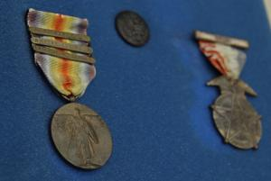 WWI medals photographed during a digitization event